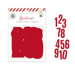 Pink Paislee - Yuletide Collection - Christmas - Countdown Numbers - Red