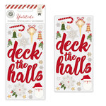 Pink Paislee - Yuletide Collection - Christmas - Foil Puffy Stickers