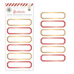 Pink Paislee - Yuletide Collection - Christmas - Foil Stickers - Labels