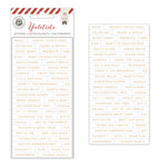 Pink Paislee - Yuletide Collection - Christmas - Foil Stickers - Words