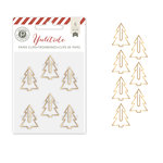 Pink Paislee - Yuletide Collection - Christmas - Paper Clips - Trees - Gold