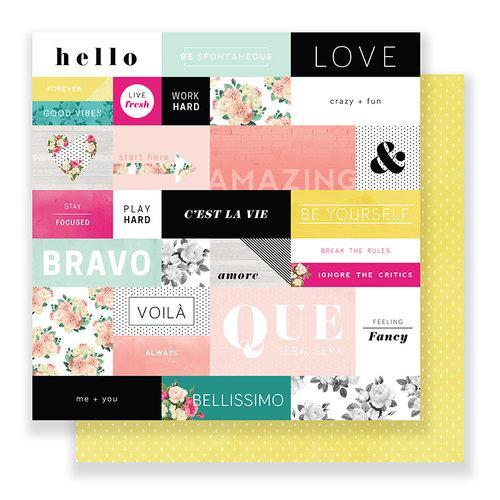 Pink Paislee - C'est La Vie Collection - 12 x 12 Double Sided Paper - Paper 01