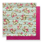Pink Paislee - C'est La Vie Collection - 12 x 12 Double Sided Paper - Paper 05