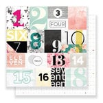 Pink Paislee - C'est La Vie Collection - 12 x 12 Double Sided Paper - Paper 07