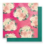 Pink Paislee - C'est La Vie Collection - 12 x 12 Double Sided Paper - Paper 08