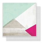Pink Paislee - C'est La Vie Collection - 12 x 12 Double Sided Paper - Paper 12