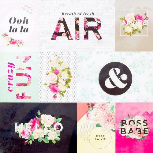 Pink Paislee - C'est La Vie Collection - 12 x 12 Acetate Paper
