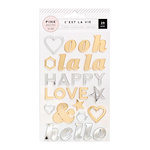 Pink Paislee - C'est La Vie Collection - Mirror Stickers