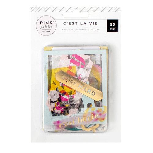 Pink Paislee - C'est La Vie Collection - Ephemera with Foil Accents