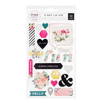 Pink Paislee - C'est La Vie Collection - Puffy Stickers