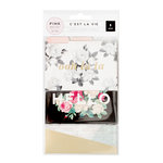 Pink Paislee - C'est La Vie Collection - 3 x 4 Mini File Folders with Foil Accents