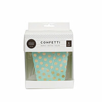 Pink Paislee - Cest La Vie Collection - Treat Box - Mint and Gold Dots