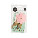 Pink Paislee - Cest La Vie Collection - Layered Tags - Paper Flower