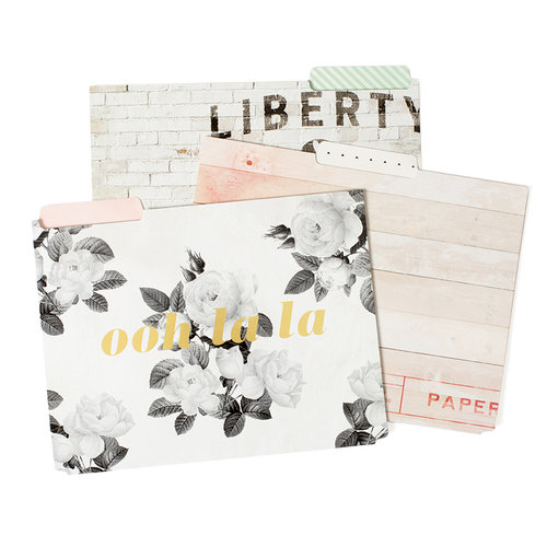 Pink Paislee - Paislee Paperie Collection - Folders with Foil Accents - Ooh La La