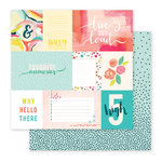 Pink Paislee - Fancy Free Collection - 12 x 12 Double Sided Paper - Paper 01