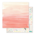 Pink Paislee - Fancy Free Collection - 12 x 12 Double Sided Paper - Paper 02