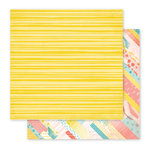 Pink Paislee - Fancy Free Collection - 12 x 12 Double Sided Paper - Paper 05