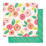 Pink Paislee - Fancy Free Collection - 12 x 12 Double Sided Paper - Paper 07