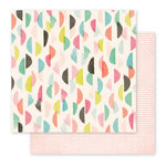 Pink Paislee - Fancy Free Collection - 12 x 12 Double Sided Paper - Paper 09