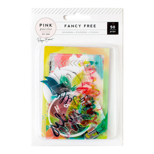 Pink Paislee - Fancy Free Collection - Ephemera with Foil Accents