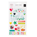 Pink Paislee - Fancy Free Collection - Puffy Stickers