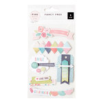 Pink Paislee - Fancy Free Collection - Layered Stickers