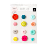 Pink Paislee - Fancy Free Collection - Buttons