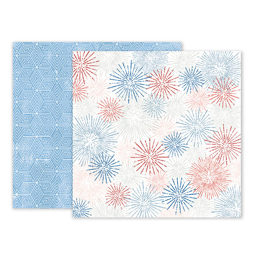 Pink Paislee - Sweet Freedom Collection - 12 x 12 Double Sided Paper - Paper 03