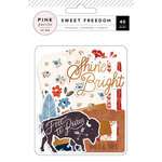 Pink Paislee - Sweet Freedom Collection - Ephemera with Foil Accents