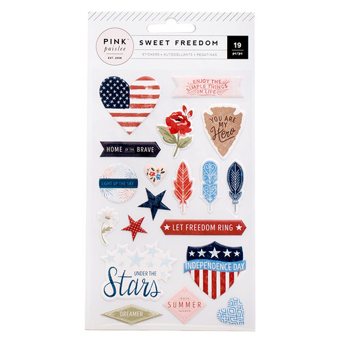 Pink Paislee - Sweet Freedom Collection - Puffy Stickers