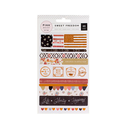 Pink Paislee - Sweet Freedom Collection - Washi Shapes with Foil Accents