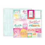 Pink Paislee - Summer Lights Collection - 12 x 12 Double Sided Paper - Paper 1
