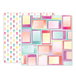 Pink Paislee - Summer Lights Collection - 12 x 12 Double Sided Paper - Paper 7