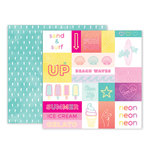 Pink Paislee - Summer Lights Collection - 12 x 12 Double Sided Paper - Paper 12