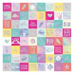 Pink Paislee - Summer Lights Collection - 12 x 12 Adhesive Back Paper with Foil Accents