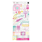 Pink Paislee - Summer Lights Collection - Cardstock Stickers with Foil Accents