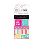 Pink Paislee - Summer Lights Collection - Mini Washi Tape Set with Foil Accents