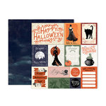 Pink Paislee - Spellcast Collection - Halloween - 12 x 12 Double Sided Paper - Paper 1