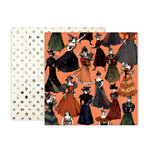 Pink Paislee - Spellcast Collection - Halloween - 12 x 12 Double Sided Paper - Paper 6