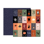 Pink Paislee - Spellcast Collection - Halloween - 12 x 12 Double Sided Paper - Paper 7