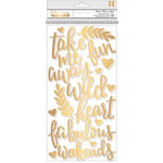 Pink Paislee - Take Me Away Collection - Thickers with Foil Accents - Phrases - Foam - Dream