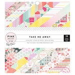 Pink Paislee - Take Me Away Collection - 6 x 6 Paper Pad