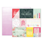 Pink Paislee - Take Me Away Collection - 12 x 12 Double Sided Paper - 01
