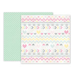 Pink Paislee - Take Me Away Collection - 12 x 12 Double Sided Paper - 03