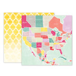 Pink Paislee - Take Me Away Collection - 12 x 12 Double Sided Paper - 05