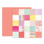 Pink Paislee - Take Me Away Collection - 12 x 12 Double Sided Paper - 07