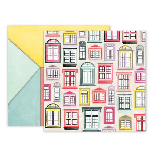 Pink Paislee - Take Me Away Collection - 12 x 12 Double Sided Paper - 09