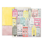 Pink Paislee - Take Me Away Collection - 12 x 12 Double Sided Paper - 13