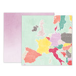 Pink Paislee - Take Me Away Collection - 12 x 12 Double Sided Paper - 15