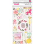 Pink Paislee - Take Me Away Collection - Thickers with Foil Accents - Chipboard - Wild Heart